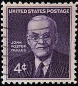 UNITED STATES OF AMERICA - CIRCA 1960: stamp printed in USA shows John Foster Dulles, circa 1960 — Stock Photo
