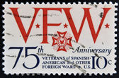 UNITED STATES OF AMERICA - CIRCA 1974: A stamp printed in USA devoted to 75th anniversary. of Veterans of Spanish American and other Foreign Wars, circa 1974 — Stock fotografie