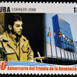 CUB- CIRC2009: stamp printed in cubdedicated to 50 anniversary of triumph of revolution, shows Che Guevarat UN, circ2009 — Stock Photo #29894005