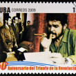 CUB- CIRC2009: stamp printed in cubdedicated to 50 anniversary of triumph of revolution, shows Che appointed Minister of Industry, circ2009 — Stock Photo #29894017