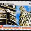 CUBA - CIRCA 2009: A stamp printed in cuba dedicated to 50 anniversary of the triumph of the revolution, shows Cuban Telephone Intervention, circa 2009 — Stock Photo