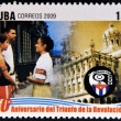 CUB- CIRC2009: stamp printed in cubdedicated to 50 anniversary of triumph of revolution, shows creation of Committees for Defense of Revolution, circ2009 — Stock Photo #29894103