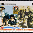CUB- CIRC2009: stamp printed in cubdedicated to 50 anniversary of triumph of revolution, shows beginning of literacy campaign, circ2009 — Stock Photo #29894113