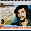 CUB- CIRC2009: stamp printed in cubdedicated to 50 anniversary of triumph of revolution, shows Che declared Cubcitizen by birth, circ2009 — Stock Photo #29894215