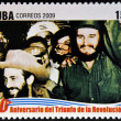 CUBA - CIRCA 2009: A stamp printed in cuba dedicated to 50 anniversary of the triumph of the revolution, shows January 1, 1959, the day of the liberation, circa 2009 — Stock Photo