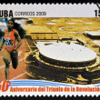 CUB-CIRC2009: stamp printed in cubdedicated to 50 anniversary of triumph of revolution, shows creation of National Institute of Sports, Physical Education and Recreation, circ2009 — стоковое фото #29894265
