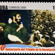 CUB- CIRC2009: stamp printed in cubdedicated to 50 anniversary of triumph of revolution, shows arrival of Fidel in Havana, circ2009 — Stock Photo #29894299