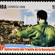 CUB- CIRC2009: stamp printed in cubdedicated to 50 anniversary of triumph of revolution, shows Fidel, Prime Minister of Revolutionary Government, circ2009 — Stock Photo #29894303