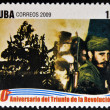 Stock Photo: CUB- CIRC2009: stamp printed in cubdedicated to 50 anniversary of triumph of revolution, shows January 1, 1959, day of liberation, circ2009