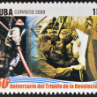 CUB- CIRC2009: stamp printed in cubdedicated to 50 anniversary of triumph of revolution, shows creation of National Civil Defence, circ2009 — Stock Photo #29894337