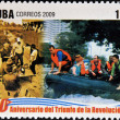 CUB- CIRC2009: stamp printed in cubdedicated to 50 anniversary of triumph of revolution, shows creation of Civil Defense, circ2009 — Stock Photo #29894379