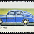 POLAND - CIRCA 1982: A stamp printed in Poland shows passenger car Warszawa M20, circa 1982  — Stock Photo