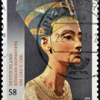 GERMANY - CIRCA 2013: A stamp printed in Germany shows the queen of the Egypt Nefertiti, circa 2013 — Stock Photo #29894767