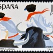 Stock Photo: SPAIN - CIRC1984: stamp printed in Spain shows Sanfermines in Pamplona, circ1984
