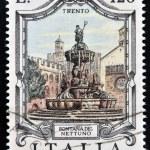 ITALY - CIRCA 1978: a stamp printed in Italy shows Neptune Fountain, Trento, Italy, circa 1978 — Stock Photo #29895407