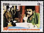 Cuba - intorno al 2009: un francobollo stampato a cuba dedicato al 50 ° anniversario del trionfo della rivoluzione, dimostra che, nominato ministro dell'industria, intorno al 2009 — Foto Stock