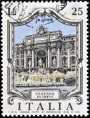 ITALY - CIRCA 1973: a stamp printed in Italy shows illustration of Fontana di Trevi in Rome, circa 1973 — Stock Photo