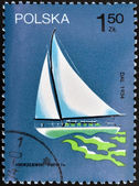 POLAND - CIRCA 1974: A stamp printed in the Poland shows image the ship, circa 1974 — Stock Photo