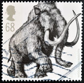 UNITED KINGDOM - CIRCA 2006: A stamp printed in Great Britain shows Woolly Mammoth (Mammuthus primigenius), circa 2006 — Stock Photo