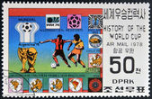KOREA - CIRCA 1978: A stamp printed in North Korea, shows World Cup Winners, Argentina, circa 1978 — Stock Photo