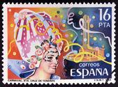 SPAIN - CIRCA 1984: stamp printed in Spain shows Carnival in Santa Cruz de Tenerife, circa 1984 — Стоковое фото