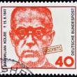 GERMANY - CIRC1973: stamp printed in Germany shows MaximiliKolbe, Polish Priest who Died in Auschwitz and was Beatified in 1971, circ1973 — Stock Photo #30508109