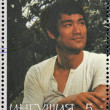 REPUBLIC OF SAKHA (YAKUTIA) - CIRCA 2000: A stamp printed in Yakutia shows Bruce Lee, circa 2000 — Stock Photo
