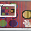 CUBA - CIRCA 2009: A stamp printed in Cuba dedicated to the art of our America, shows physicromie 105 by Carlos Cruz Diez (Venezuela), circa 2009 — Stock Photo