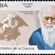 Stock Photo: CUB- CIRC1996: postage stamp printed in Cubshows image of Charles Darwin, circ1996.