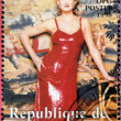 REPUBLIC OF GUINEA - CIRCA 1998: A stamp printed in Republic of Guinea shows Princess Diana of Wales, circa 1998 — Stock Photo