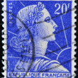 FRANCE - CIRCA 1955: stamp printed in France shows Marianne - national emblem of France and an allegory of Liberty and Reason, circa 1955 — Stock Photo