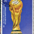 GUINEA - CIRCA 1998: a stamp printed in Republic of Guinea commemorating Jules Rimet (FIFA) announced the creation of the football world cup, circa 1998. — Stock Photo