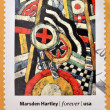 UNITED STATES OF AMERICA - CIRCA 2013: A stamp printed in USA dedicated to modern art in america shows  number 5 by Marsden Hartley, circa 2013 — Stock Photo