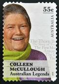 AUSTRALIA - CIRCA 2010: A stamp printed in Australia shows Colleen McCullough, australian legends, circa 2010 — Stock Photo