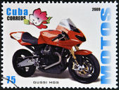CUBA - CIRCA 2009: A stamp printed in Cuba dedicated to the motorbikes, shows Gussi MGS, circa 2009 — Stock Photo