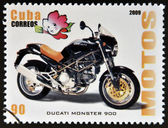 CUBA - CIRCA 2009: A stamp printed in Cuba dedicated to the motorbikes, shows Ducati Monster 900, circa 2009 — Photo