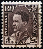 IRAQ - CIRCA 1934: A stamp printed in Iraq shows Ghazi bin Faisal was the King of the Hashemite Kingdom of Iraq, circa 1934 — Stock Photo