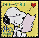 JAPAN - CIRCA 2000: A stamp printed in japan shows Snoopy, circa 2000 — Photo