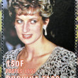 BURKINA FASO - CIRCA 1997: A stamp printed in Burkina Faso shows Diana of Gales, circa 1997  — Stock Photo