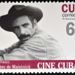 CUBA - CIRCA 2009: A stamp printed in Cuba dedicated to Cuban cinema, shows The Man from Maisinicu by Manuel Perez, circa 2009 — Stock Photo #30642561