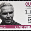 CUBA - CIRCA 2009: A stamp printed in Cuba dedicated to Cuban cinema, shows Santiago Alvarez, director of Latin American ICAIC, circa 2009 — Stock Photo