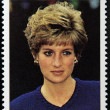 CUBA - CIRCA 1998: A stamp printed in Cuba shows Lady Diana, circa 1998 — Stock Photo