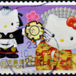 JAPAN - CIRCA 2000: A stamp printed in Japan shows Hello Kitty and Dear Daniel, circa 2000  — Stock Photo