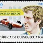 EQUATORIAL GUINEA - CIRCA 1995: A stamp printed in Guinea dedicated to car champions, shows Jochen Rindt, circa 1995 — Stock Photo #30643775