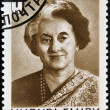 USSR - CIRCA 1984 : A stamp printed in USSR shows Indira Gandhi, Indian Prime Minister, circa 1984  — Stock Photo