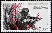 FRANCE - CIRCA 1984: A stamp printed in France dedicated to Resistance, circa 1984 — Stock Photo