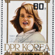 NORTH KOREA - CIRCA 1982: A stamp printed in DPR Korea shows Princess Diana of Wales, circa 1982  — Stock Photo
