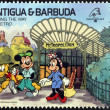 ANTIGUA AND BARBUDA - CIRCA 1989: Stamp printed in Antigua dedicated to international philatelic exhibition in France, shows finding the way by metro, circa 1989 — Photo