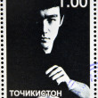TAJIKISTAN - CIRCA 2001: stamp printed in Tajikistan shows Bruce Lee, circa 2001 — Stock Photo