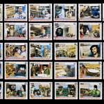 CUBA - CIRCA 2009: 50 stamps printed in cuba dedicated to 50 anniversary of the triumph of the revolution, circa 2009 — Stock Photo